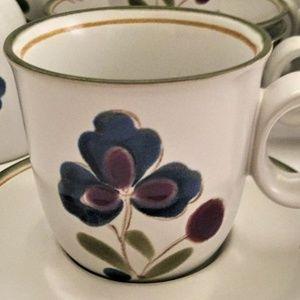6 Noritake Stoneware Cups Mugs PROVIDENCE Pattern